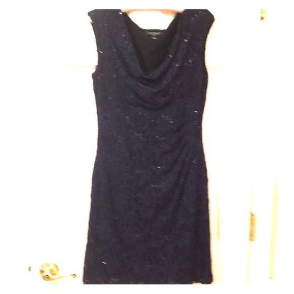 Ralph Lauren Dresses & Skirts - Ralph Lauren navy blue lace/sequin dress